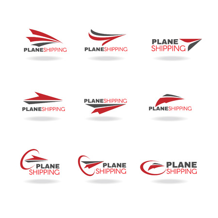 wings logos: Plane Transportation shipping and delivery logo business vector