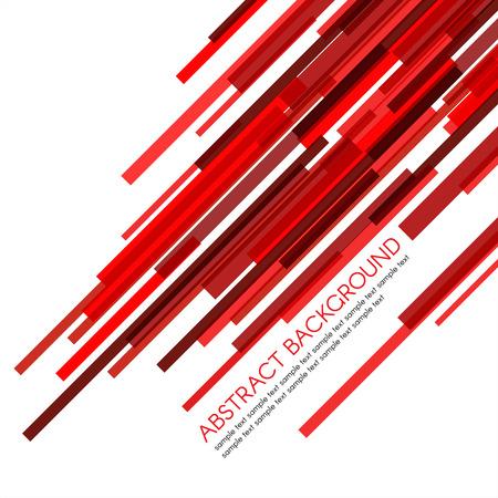 Rettangolo barre rosse vettore obliquamente astratto