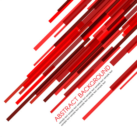 Red rectangle bars obliquely vector abstract background Illustration