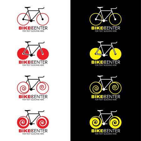 jaune rouge: Logo de v�los 4 style et rouge dessin vectoriel jaune tonalit� de couleur