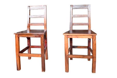 silla de madera: 2 silla de madera aislado en el fondo blanco