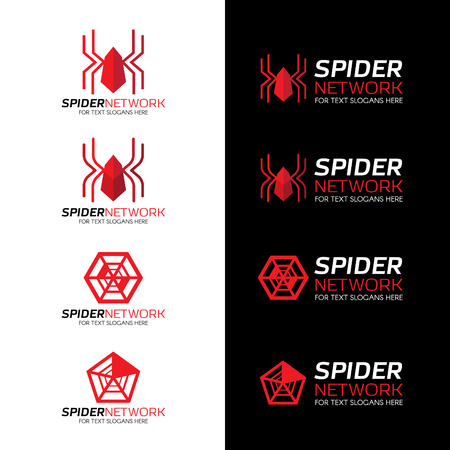 spider: Red Spider network logo on white and black background