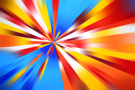 the energy center: Colorful radius motion line art abstract background