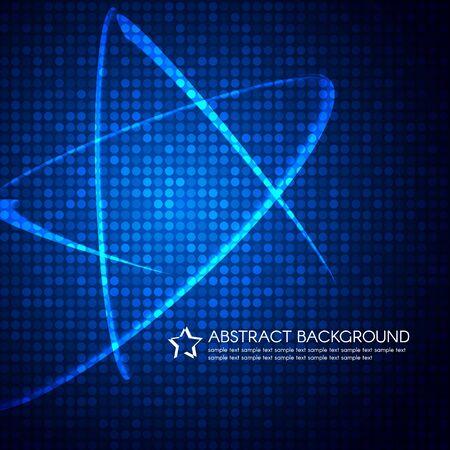 estrella azul: Blue Star l�nea de luz sobre burbuja vector de fondo