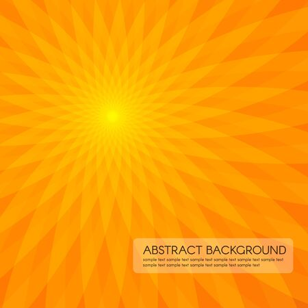 flower power: Orange sun flower power abstract vector background Illustration