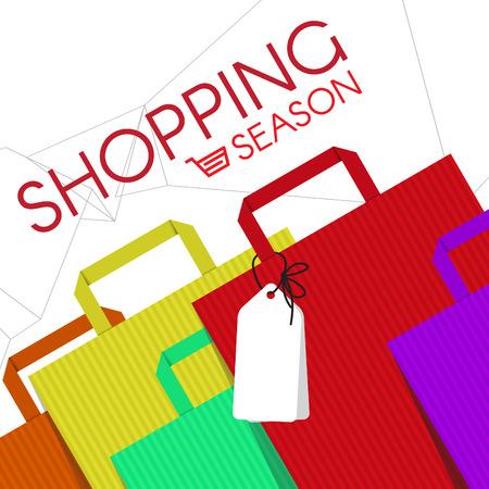 boodschappentassen mode en cart icon vector abstracte achtergrond