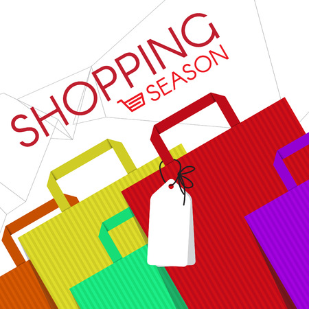 shopping baskets: shopping bags fashion and cart icon vector abstract background
