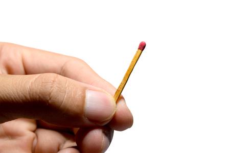 streichholz: halten sind Streichhölzer auf weißem Hintergrund isolieren Lizenzfreie Bilder