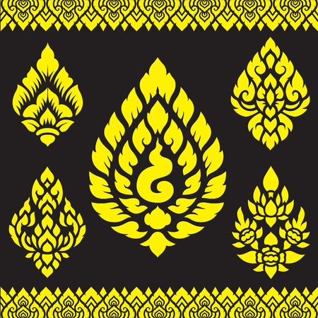 asian art: Asian traditional art Design Vector, Thai traditional design  Lai Thai