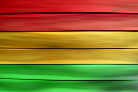 Green red yellow wood sheet background Reggae style Stock Photo