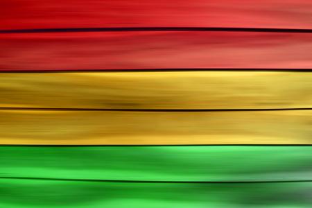 reggae: jaune feuille de fond en bois rouge de style Reggae Vert