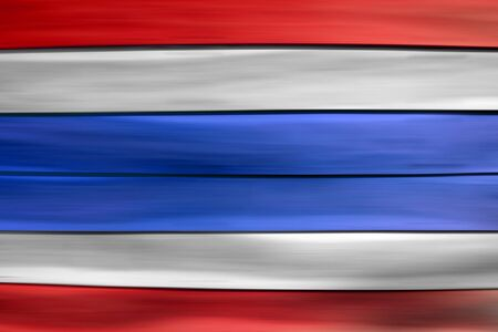 red white blue: Red white blue Thailand flag  on wood sheet background