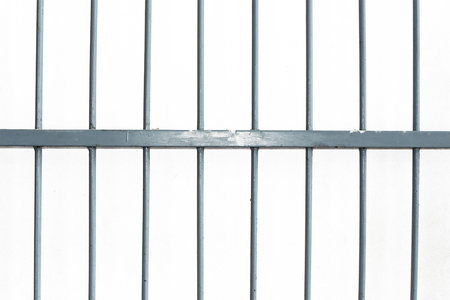 jail: Square iron cage isolate on white background