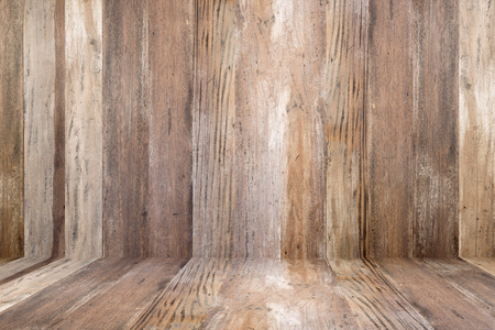 duramen: Viejo piso de madera del grunge y de la pared de madera Foto de archivo