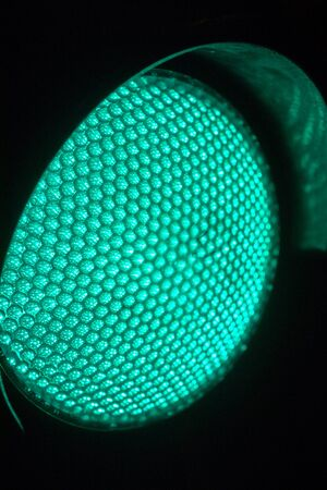 street light: Close up Green Traffic lights at night