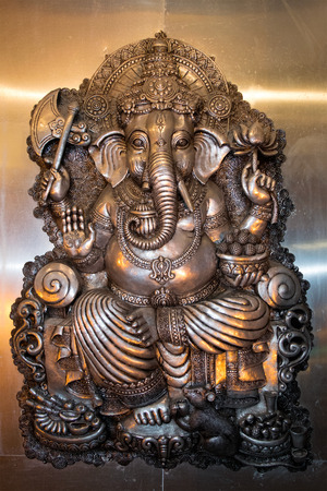 hindu temple: Ganesha This statue is an element in the Thai Temple, Public area Stock Photo