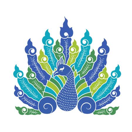 pavo real: El pavo real dise�o signos vector que muestra la cola