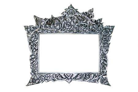 silver frame: Silver Frame Stock Photo