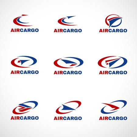 транспорт: Воздух Самолет Транспорт груза или доставка логотип бизнес вектор