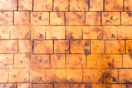 tiled: Orange Brown Floor square Design for texture background
