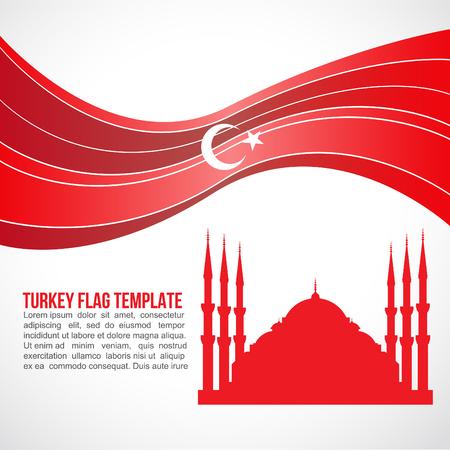 sultano: Turchia Onda di bandiera e Moschea del Sultano Ahmed