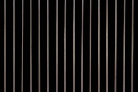 iron and steel: Iron baluster or steel Cage isolate on background Stock Photo