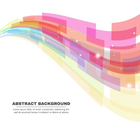 Soft tone - Rectangle wave vector abstract background Stock Illustratie