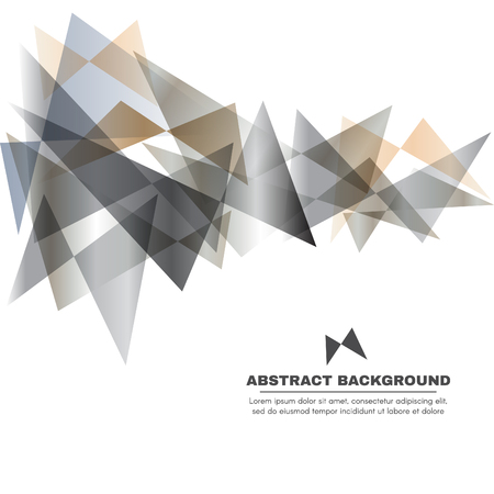 Silver gray and gold tone - Butterfly Triangle vector abstract background Illustration