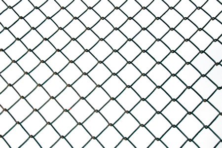 texture twisted: Steel Wire mesh isolate on white background