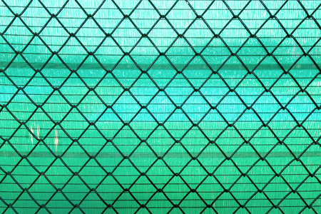 chain link fence: Steel Wire mesh on green slan background Stock Photo