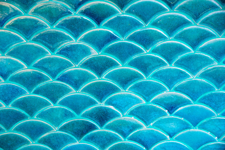 water wave: Blue circle water wave tile texture background Stock Photo