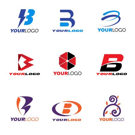 文字 B ロゴ ベクター デザインを設定