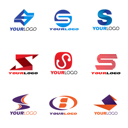 abstract logos: Letter S logo vector set design
