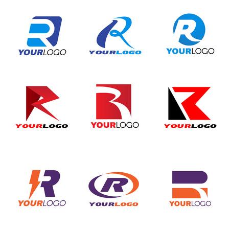 R: Letter R logo vector set design Illustration