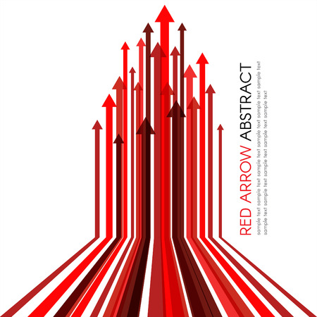 Red arrow line upper vector abstract background Vettoriali