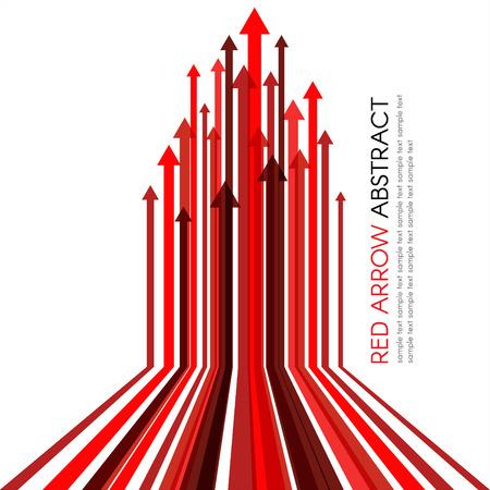 Red arrow line upper vector abstract background Stock Illustratie