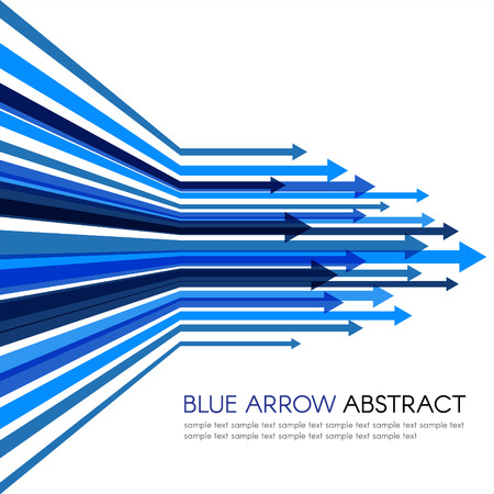Blue arrow line sharp vector abstract background Ilustrace