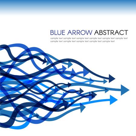 curve line: Blue arrow line curve sharp vector abstract background