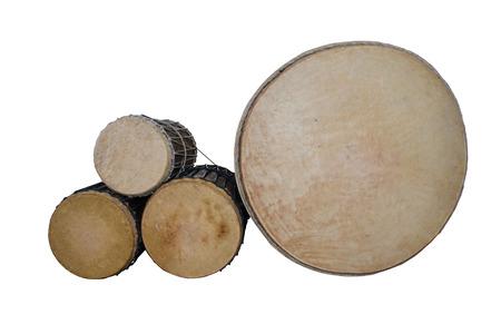 puja: Puja Drum lanna set isolate on white background