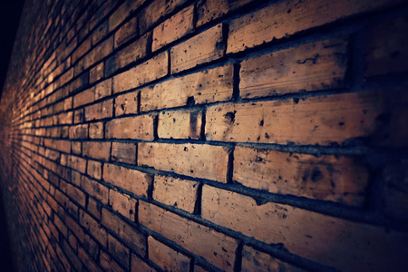 brick floor: Old vintage brick wall vintage dark style