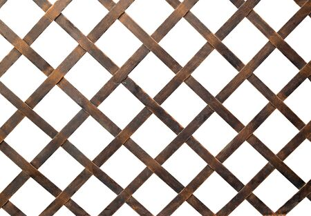 chained link fence: Iron net or steel Cage isolate on white background