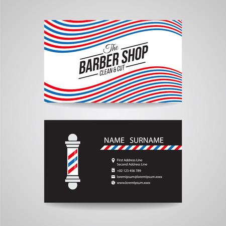 pole: Business card - barber shop and barber pole design