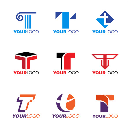 Letter T logo vector set design