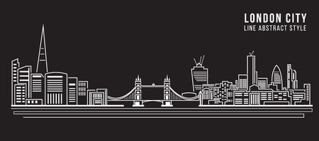 london city: Cityscape Building Line art Vector Illustration design - London city