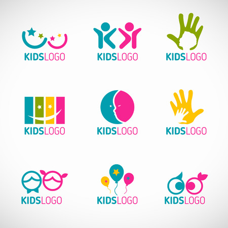vectors: Kids icon vector set design