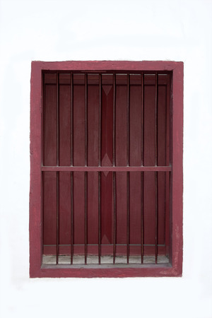 window grill: Brown Window and window grilles  of the temple