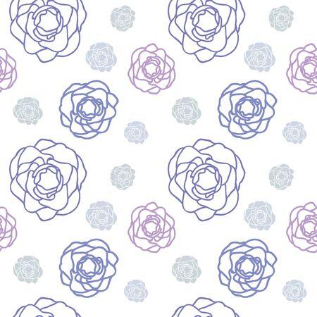 violet: Purple rose floral seamless pattern vector design