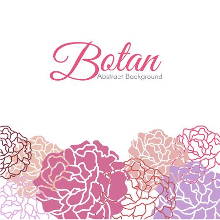botan: Sweet Botan floral abstract background vector design