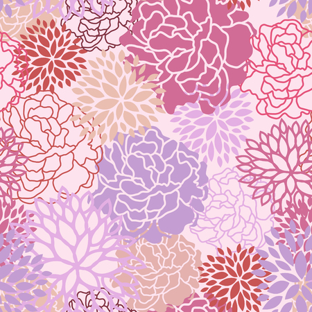 purple flowers: Sweet floral seamless pattern vector abstract background design