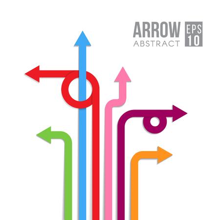Arrow directe tekenen abstract design Vector Illustratie